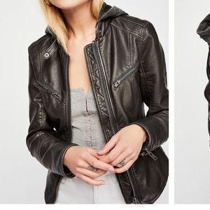 Free People Monroe Faux Leather Jacket